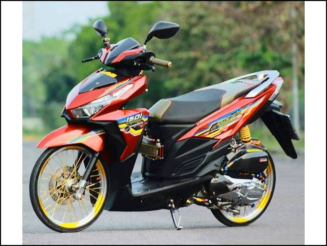 Modifikasi Vario 150 Airbrush