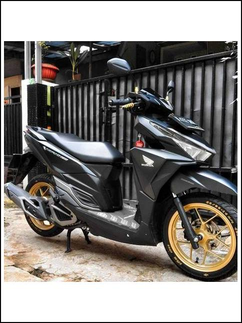 Modifikasi Vario 150 Exclusive Hitam