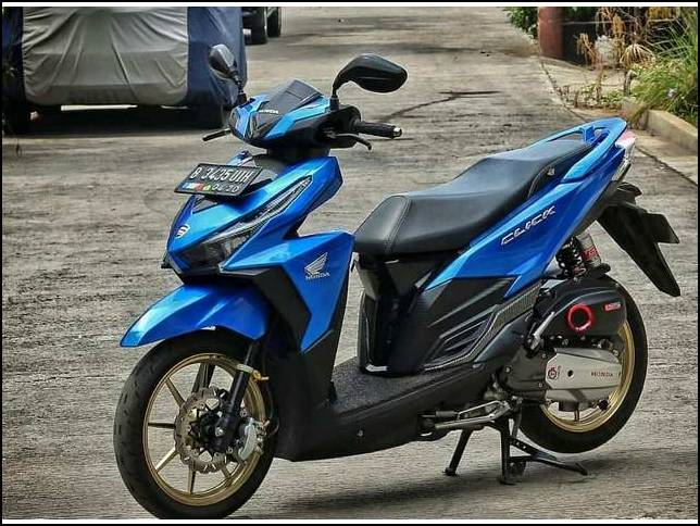 Modifikasi Vario 150 Warna Biru