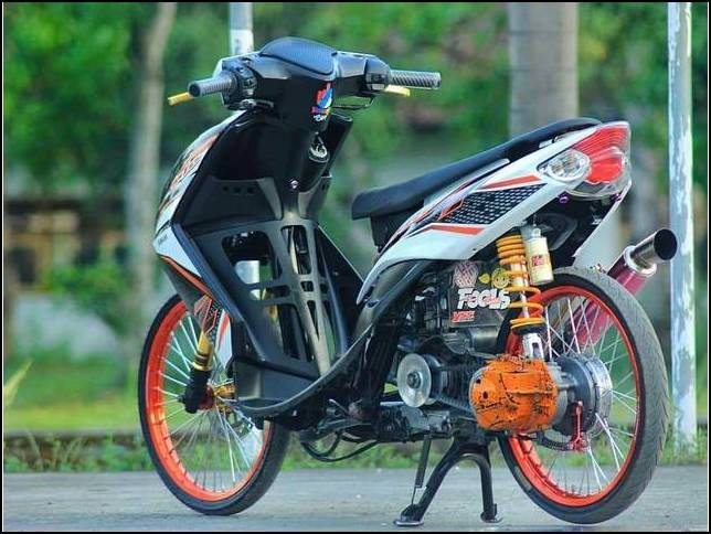 Gambar Modifikasi Mio Drag Bike Harian